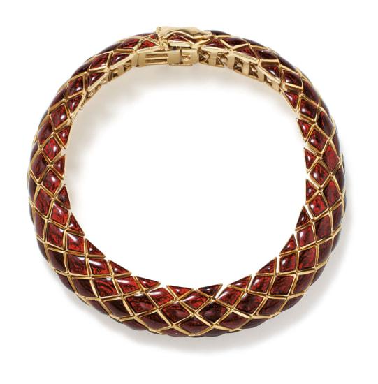 An Enamel and Gold Bracelet