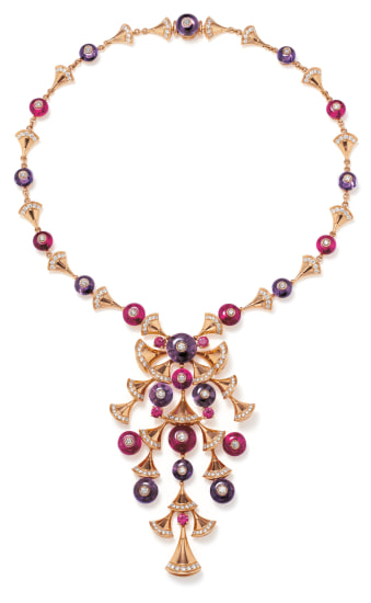 A Diamond, Amethyst, Rubellite and Gold 'Divas' Dream' Necklace