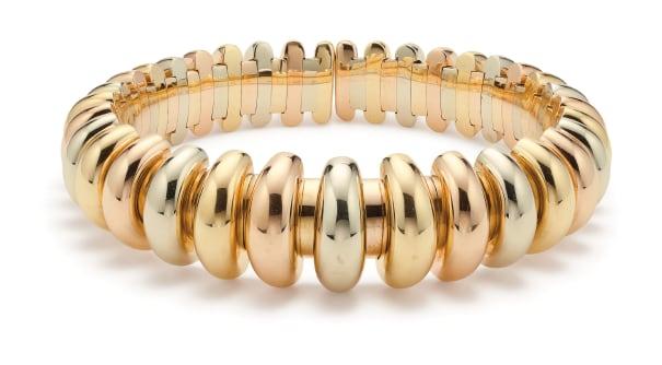 A Tri-Colored Gold Bracelet