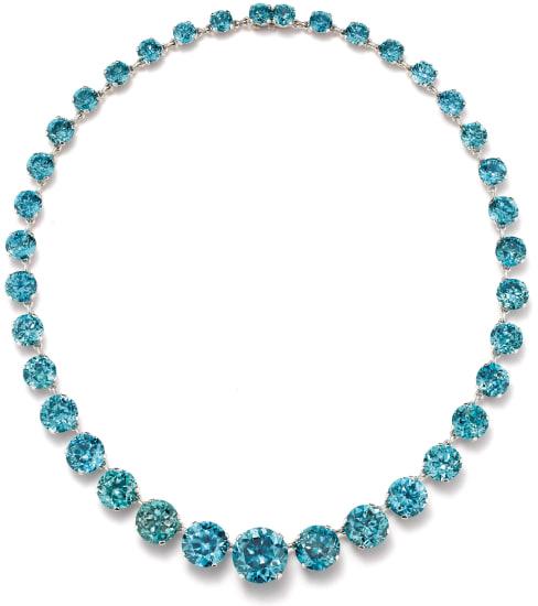 A Zircon and Platinum Necklace
