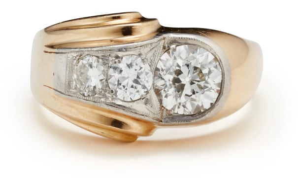 A Diamond and Gold Ring