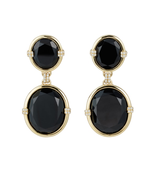 A Pair of Spinel, Diamond and Gold 'G-One' Earrings