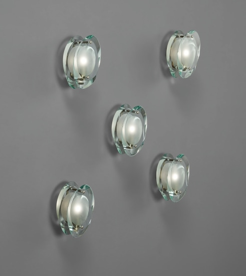 "Set of five ""Micro"" wall lights, model no. 2093"