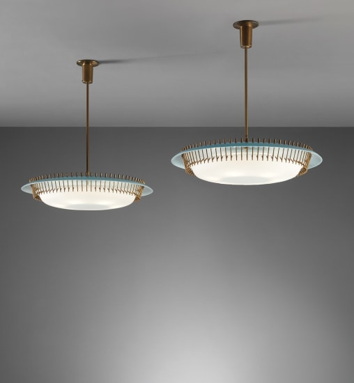 Pair of ceiling lights, model no. 12697