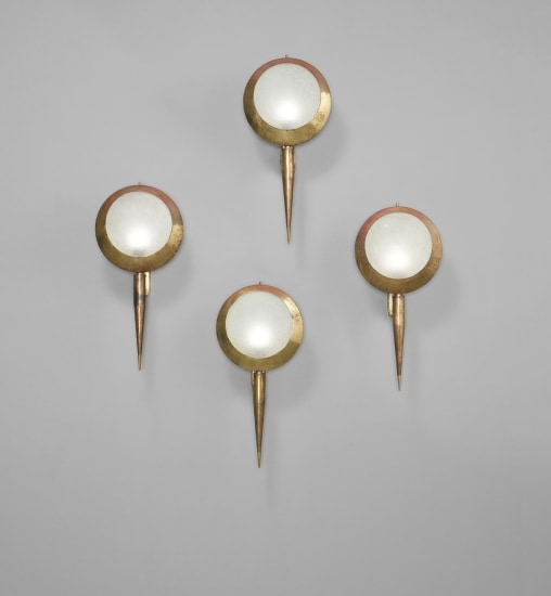 Set of four wall lights, model no. 2128