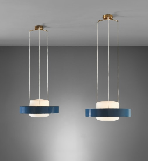 Pair of ceiling lights, model no. 1158