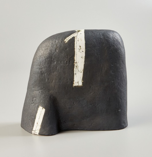 """Untitled Vessel (Black with White Signs)"""