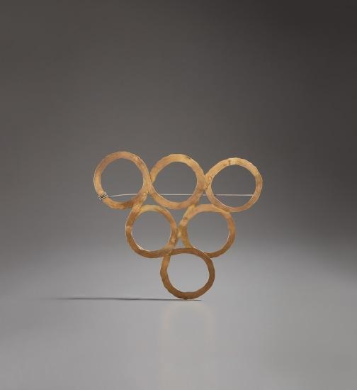 """Six Circles"" brooch"