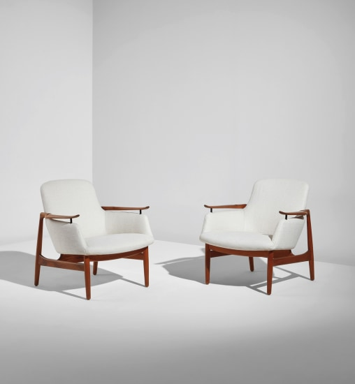 Pair of armchairs, model no. FJ 53