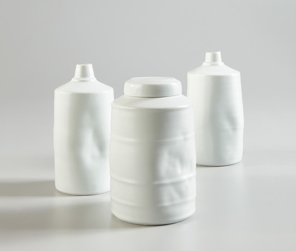Lidded jar and two vessels