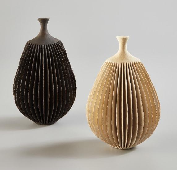 """Two """"Bottle Form"""" vessels"""