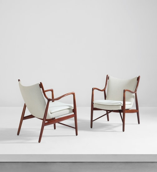 Pair of lounge chairs, model no. FJ 45