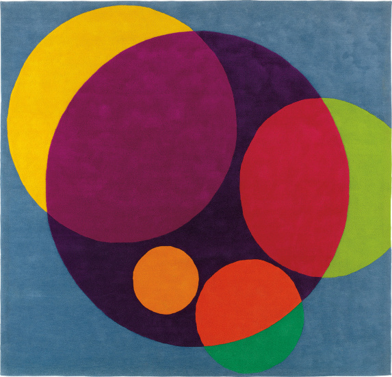 """Chromatic Circles"" tapestry, commissioned for the ARCO offices, Los Angeles"