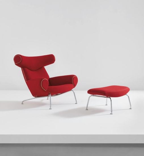 """""""Ox"""" lounge chair and ottoman, model nos. AP-46 and AP-49"""