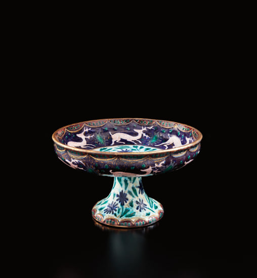 Tazza with reindeer decoration