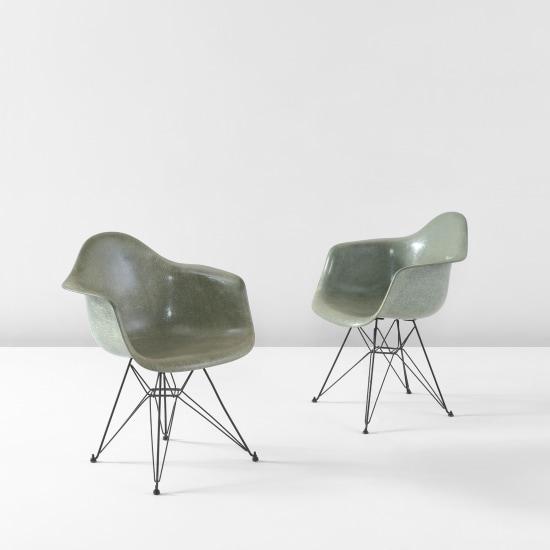 "Pair of ""DAR"" armchairs"