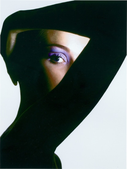 One Eyed Revlon Beauty Editorial, Harper's Bazaar
