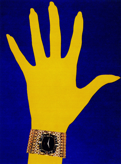 Piaget Yellow Hand, Editorial, Harper's Bazaar