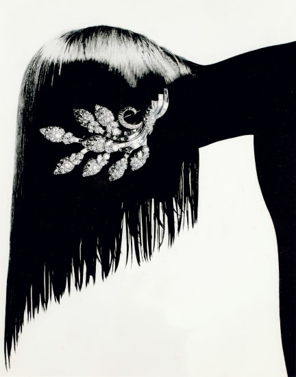 Jewelry Chandelier Champagne, Editorial, Japanese Vogue (with Piaget pin)