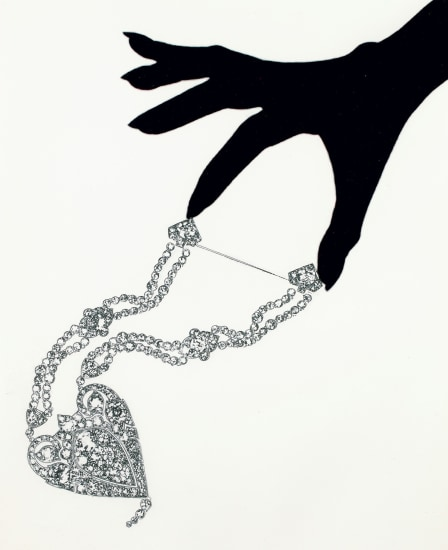 Jewelry Chandelier Champagne, Editorial, Japanese Vogue (with Chanel diamond heart pendant)