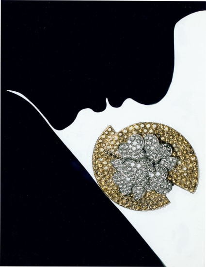 Jewelry Chandelier Champagne, Editorial, Japanese Vogue (with Bulgari broach)