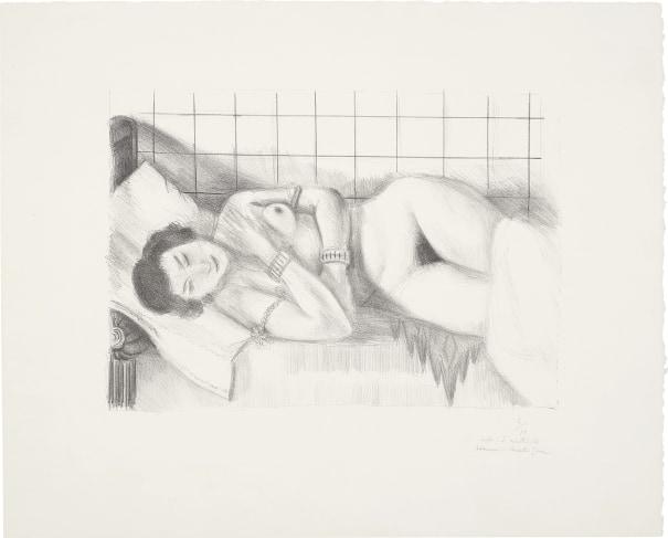Figure endormie, châle sur les jambes (Sleeping Figure, Shawl over Legs)