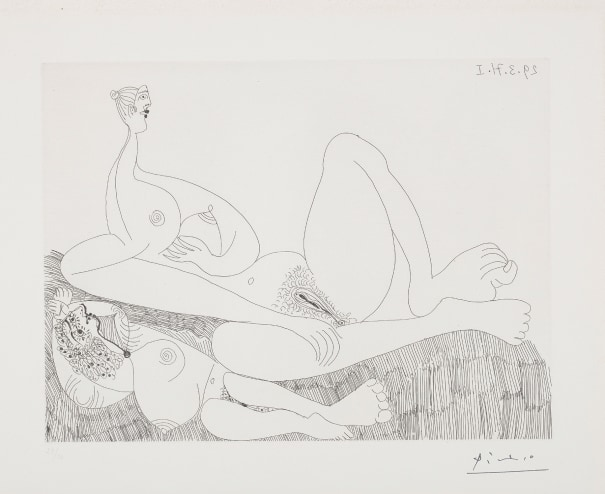 Repos. Deux filles nues (Two Nudes Resting), plate 97 from Séries 156