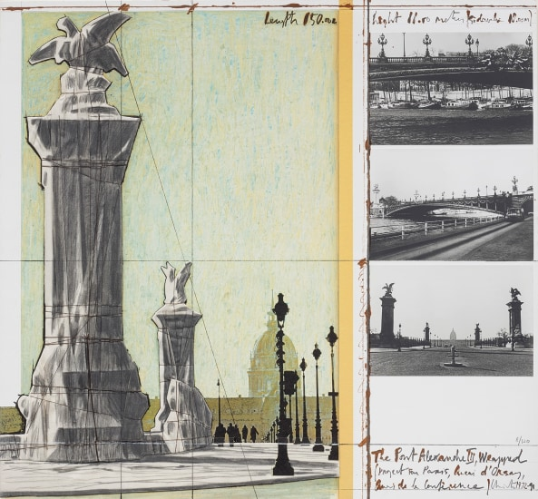 The Pont Alexandre III, Wrapped, Project for Paris