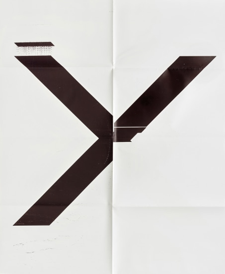 X Poster (Untitled, 2007, Epson Ultrachrome inkjet on linen, 84 x 69 inches, WG1211)