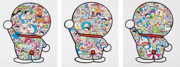 Doraemon's Daily Life; M. Fujiko, F. Fujio and Doraemon are in the Field of Flowers; and Doraemon in the Field of Flowers