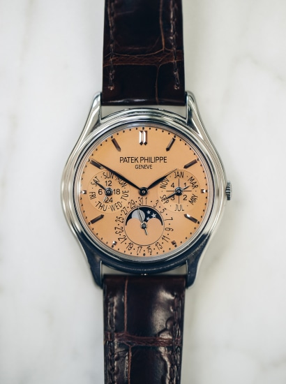 Ref 3940G Salmon Dial London Edition Box, Papers Full Set