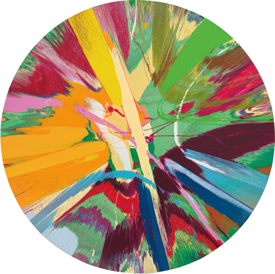 Damien Hirst Beautiful Tropical Jungle Painting With Pink Snot Phillips