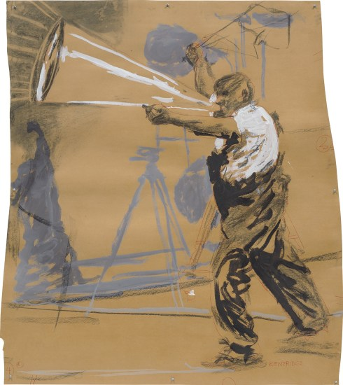 Untitled (drawing for Refusal of Time, man and megaphone)