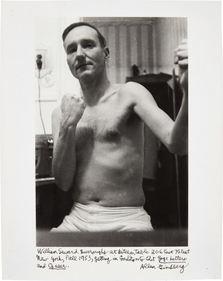 William Seward Burroughs at Kitchen Table New York