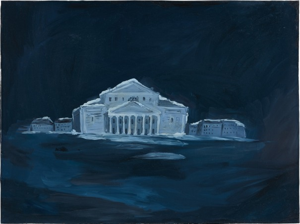 The Bolshoi Theater, dreamland, at night 9 pm, 3am, Moscow