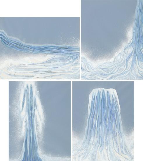 Four works: (i) Hairpin; (ii) Cascade; (iii) Geiser; (iv) Waterfall