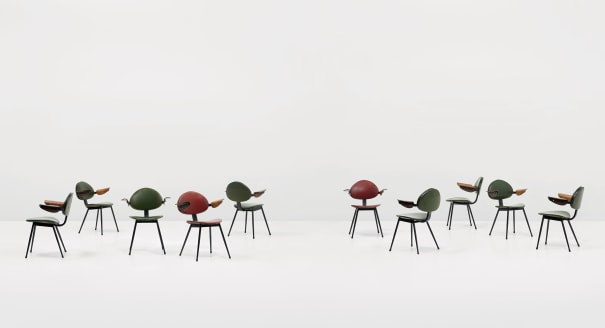 Set of ten armchairs, designed for the Lutrario Ballroom, Turin