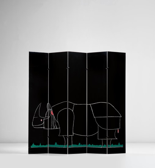 'Rhinocéros' five-panelled screen, from the 'Ultramobile' series