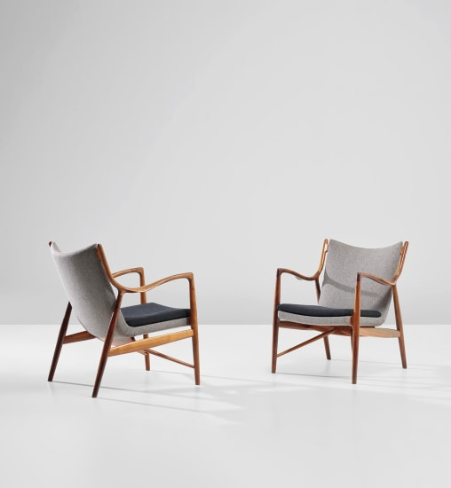 Pair of easy chairs, model no. FJ 45