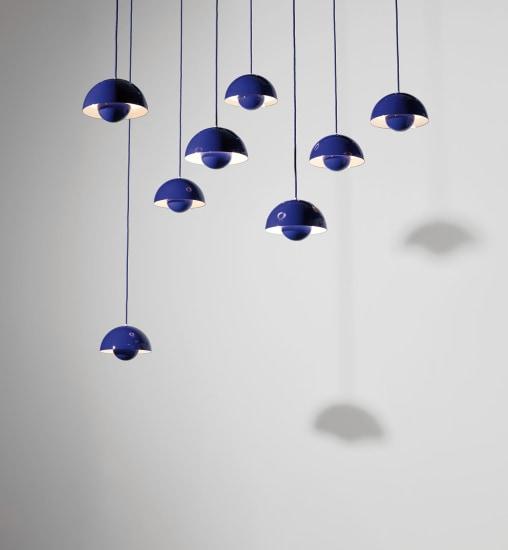 Set of eight 'Flower Pot' ceiling lights, model no. 16562