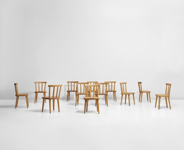 Set of twelve chairs, from the 'Utö' series