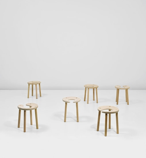 Set of six 'Sauna' stools, designed for the Palace Hotel, Helsinki