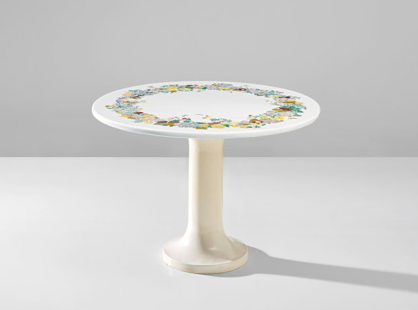 'Corona di fiori' occasional table