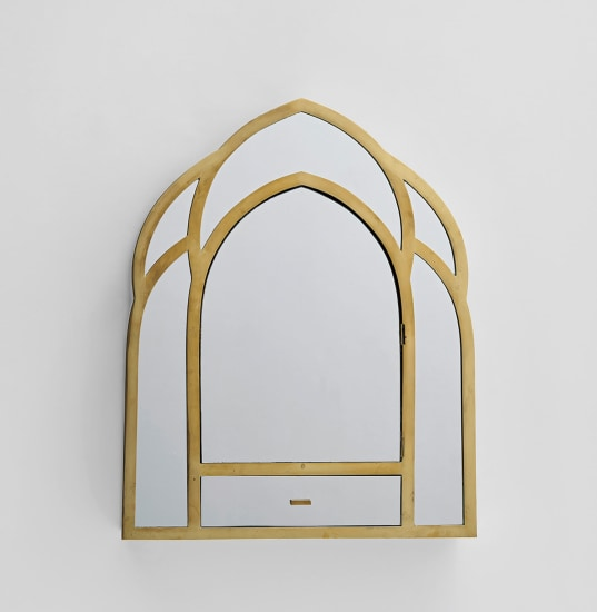 'Gothic' mirror with drawer