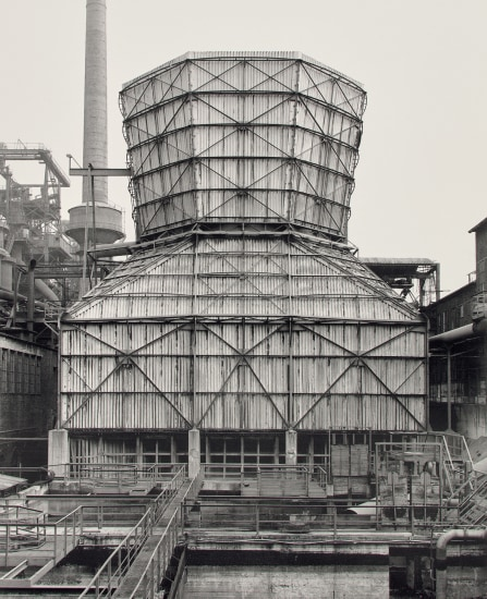 Cooling tower, steelworks, Haspe district, Hagen, Germany