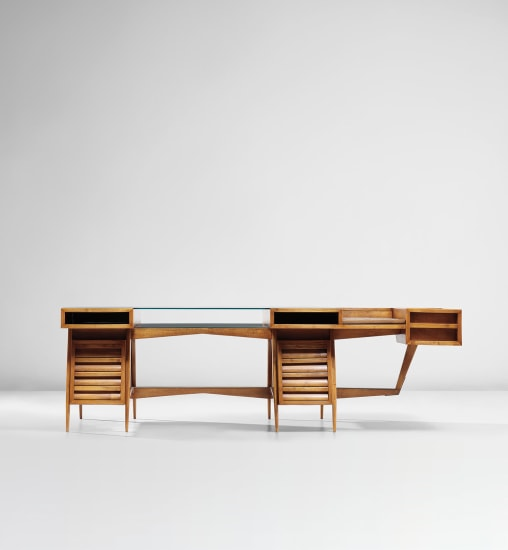 Rare executive desk, designed for a lawyer's office, Turin