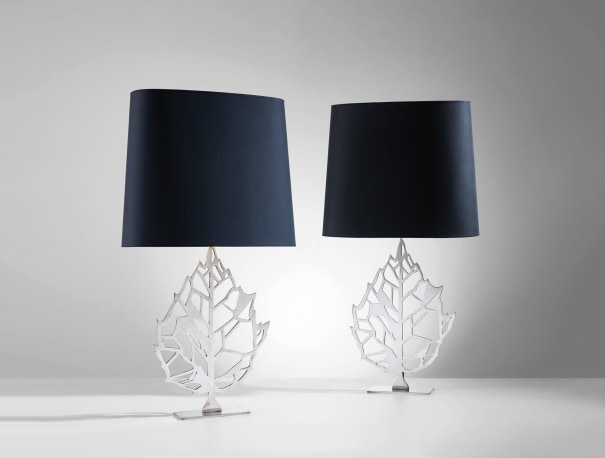 Pair of 'Feuille' table lamps