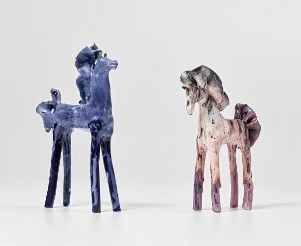 Two 'Cavallino' statuettes