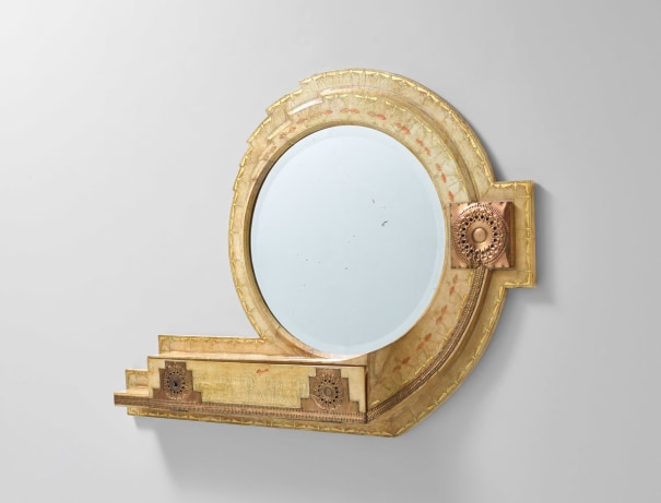 Large mirror with drawer