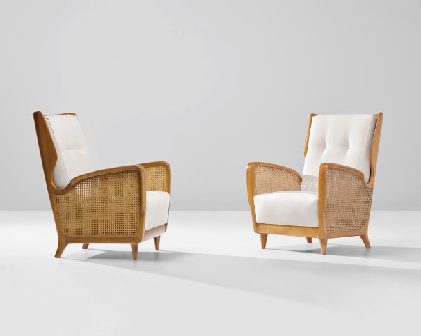 Pair of rare armchairs, model no. 489